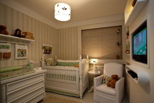 Lustre lindinho e simples para um quarto infantil