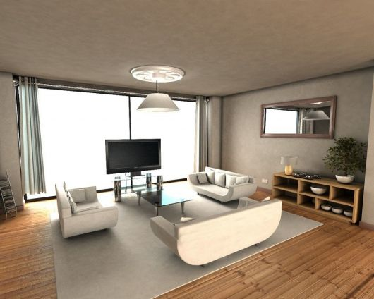 Lustre branco simples para iluminar a sala