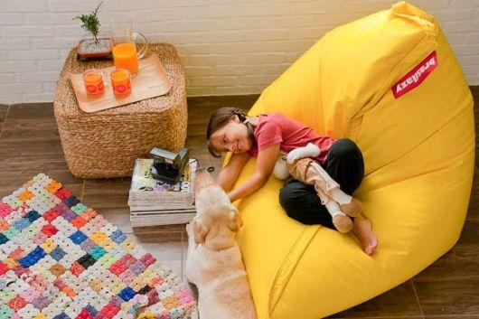 puff infantil gigante no quarto de seu filho