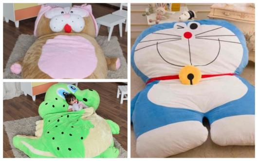 puffs gigantes de animais para divertir as crianças