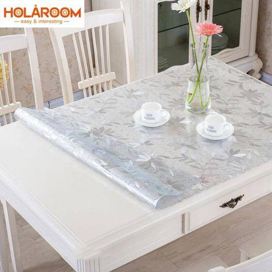 toalha de mesa transparente impermeavel.