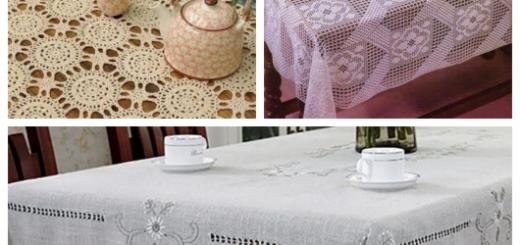 sugestões de toalhas de mesa quadradas lindíssimas!