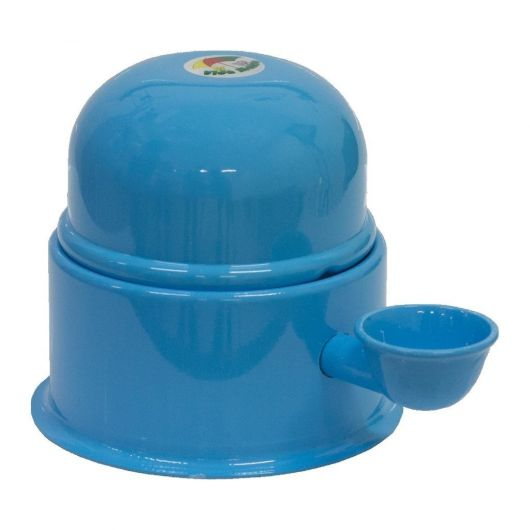 Bebedouro azul para cachorro