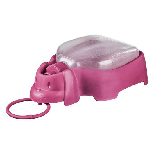 Bebedouro portátil rosa