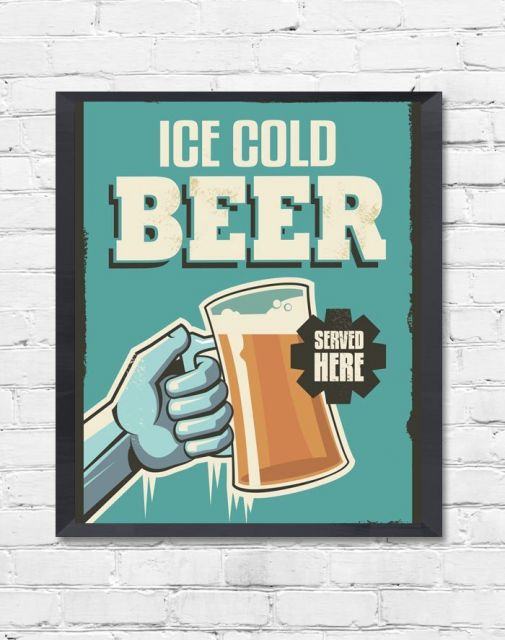 quadro verde com desenho de cerveja.