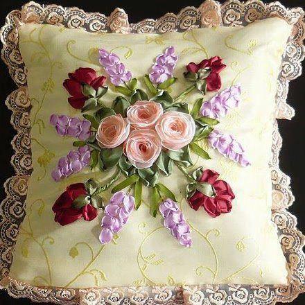 Borde flores utilizando fitas