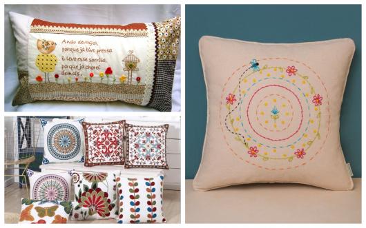 dicas sobre almofadas bordadas