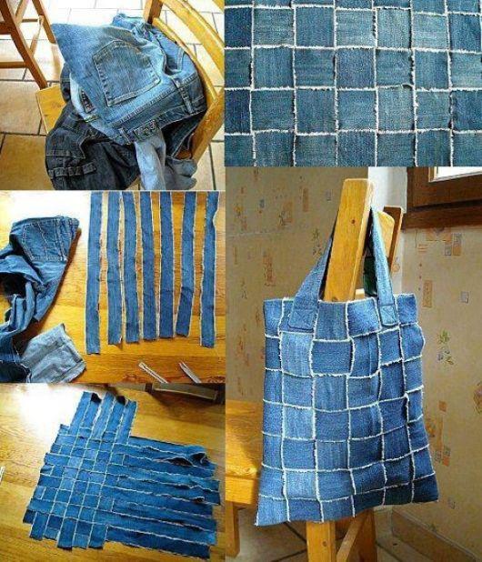 Passo a passo de como fazer uma bolsa com retalhos de jeans