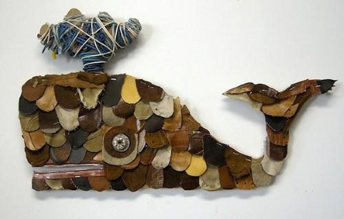 Artesanato com pedaços de couro