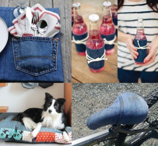 Alternativas de artesanato com retalhos de jeans