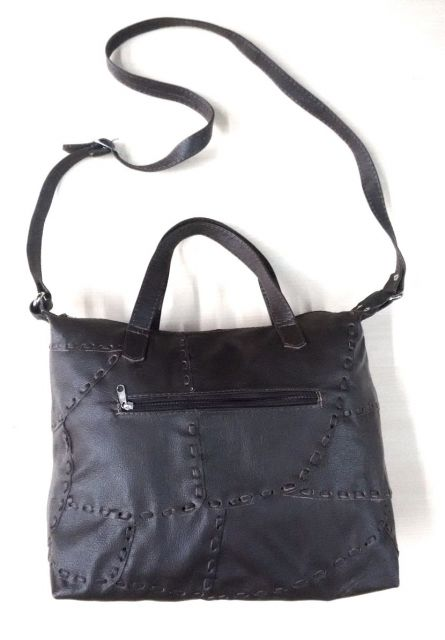 bolsa de retalhos de couro da mesma cor