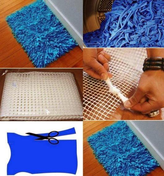 Tapete de malha azul para portas, quartos, banheiros, etc