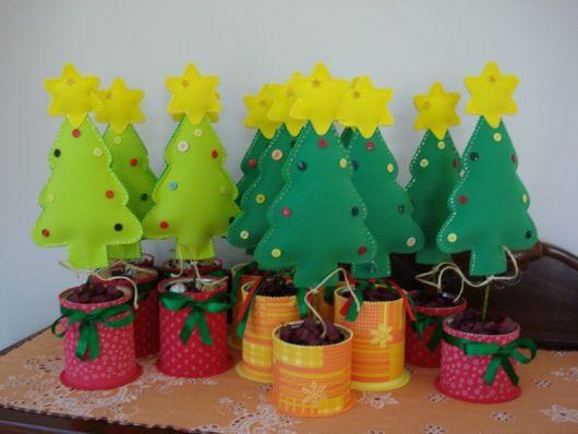 Árvore de Natal de EVA para lembrancinha