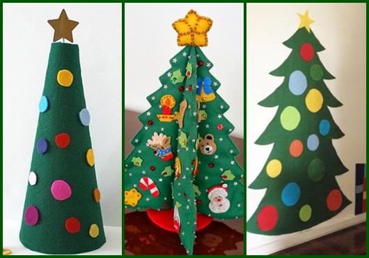 árvore De Natal De Eva 60 Inspirações Moldes Para Imprimir