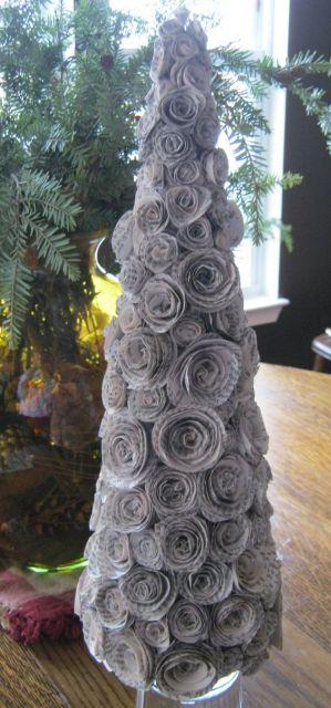 árvore criativa de papel