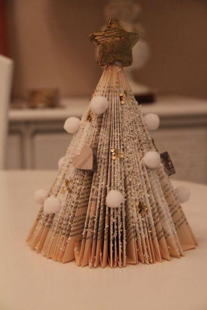 decoração de natal com livros