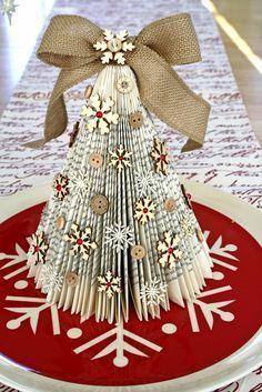 decoração árvore de revista