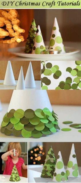como fazer árvore de papel