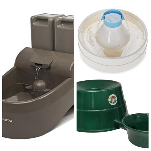 Os bebedouros mais utilizados são os de plástico