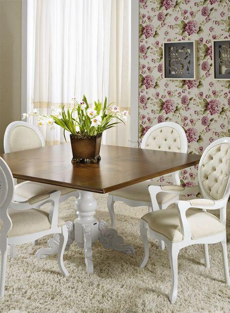 Decore sua sala de jantar com cadeira medalhão com braço