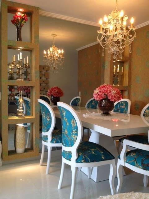 Decoração de sala de jantar com estilo provençal