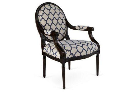 cadeira medalhao Estampas geométricas