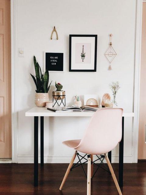 cadeira rosa moderna