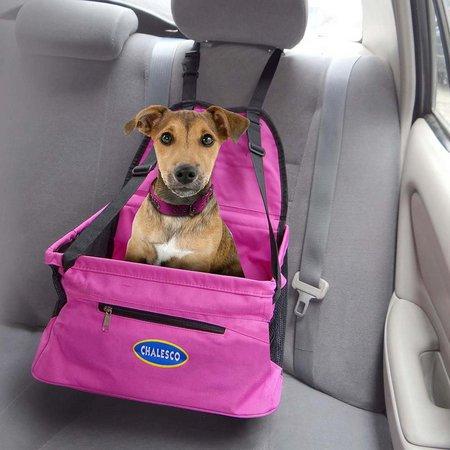 Cadeirinha para cachorro rosa