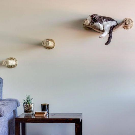 cama de gato de tecido