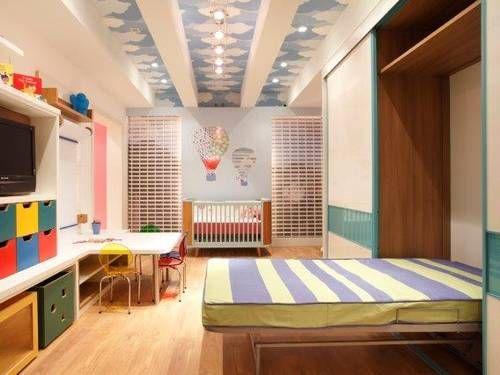 cama esconidada quarto infantil