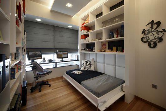 escritório com quarto de hóspedes