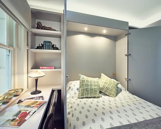 cama escondida armário