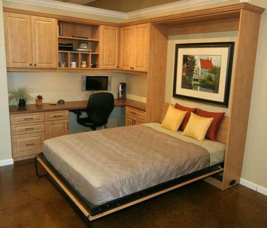 cama de casal com armários