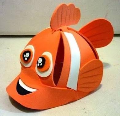 Chapéu de EVA de peixe