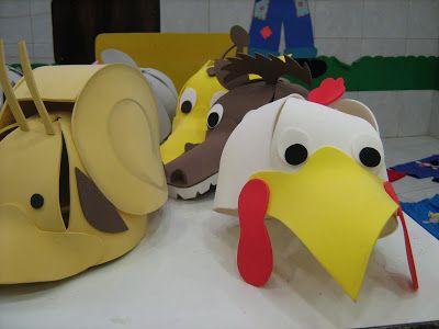Chapéu de EVA de animais