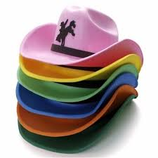 Chapéu de EVA country rosa