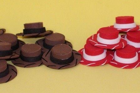 Chapéu de EVA Toy Story vermelho