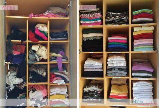 antes e depois armário de roupas
