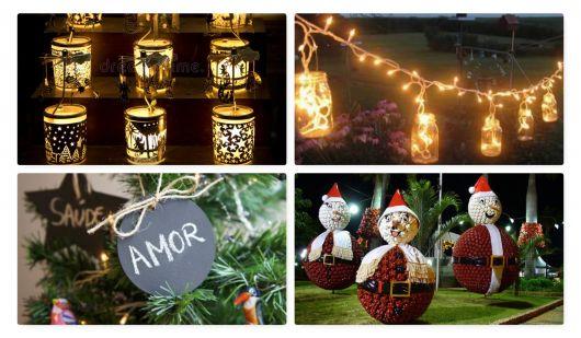 Decoraç u00e3o de Natal para Jardim u2013 As 30 Ideias Mais Impressionantes! -> Decoração De Natal Jardim
