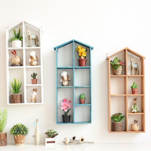 Que tal então estantes suspensas para decorar?