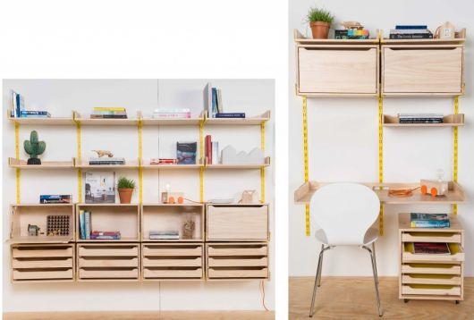 Inove na decoração do ambiente escolhendo uma estante com design vintage