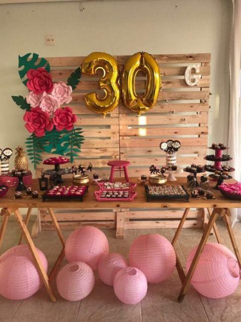 decoração festa 30 anos