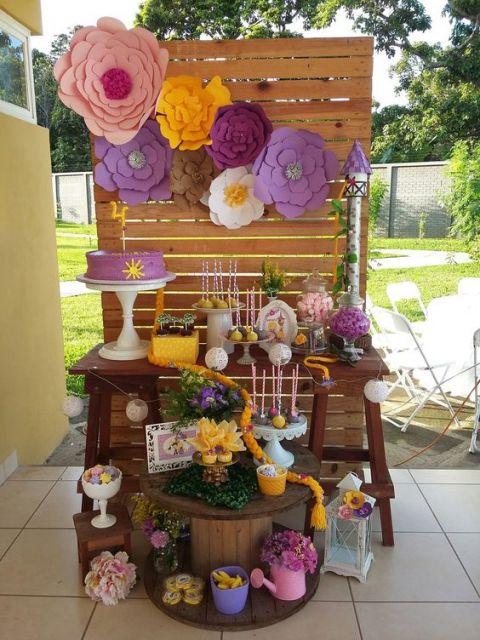decoração com pallet festa infantil