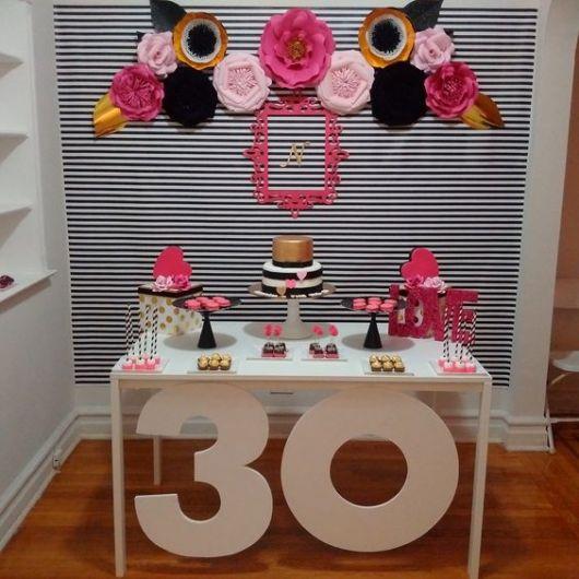 decoração para 30 anos