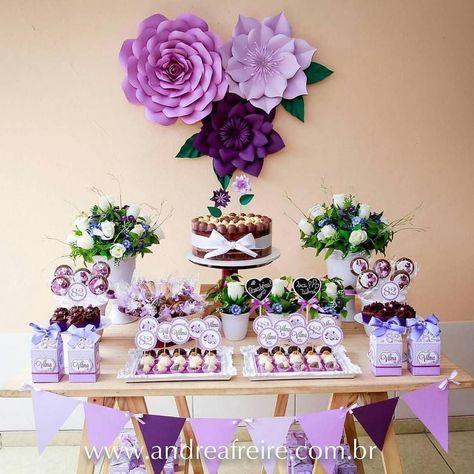 decoração roxa festa