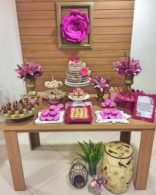 festa de aniversário rosa