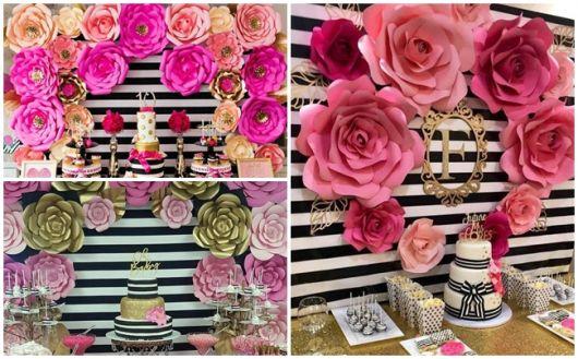 ideias festa preta e rosa