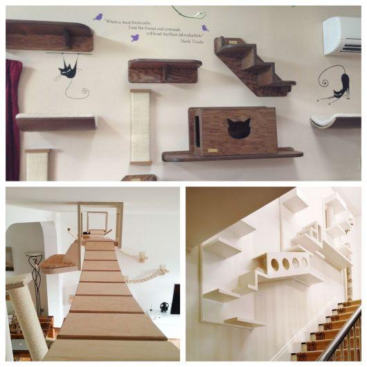 O espaço para a instalação das estruturas e bem variável. Elas também possuem formatos que se adaptam a qualquer parede!