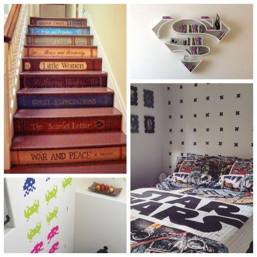 Para diversos ambientes, da escada de entrada a todos os cantos do quarto