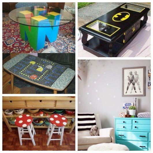 Mesas e móveis para complementar seu quarto geek e nerd